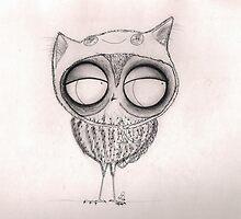 Owl in Cat-Hat by InkyDreamz