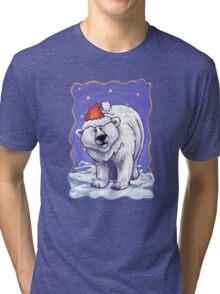 Polar Bear Christmas Tri-blend T-Shirt