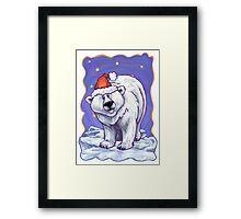 Polar Bear Christmas Framed Print