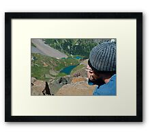 His Best View Ever of Blue Lakes Framed Print