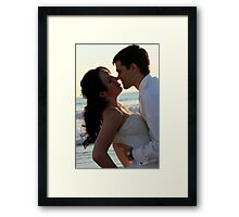 The bride and groom Framed Print