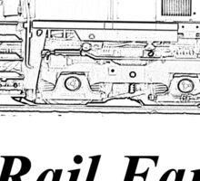 Rail Fan In Training Kids Clothes Sticker