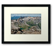 Unreal Blue Lakes from Sneffels Framed Print