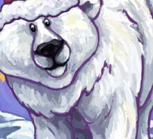Polar Bear Christmas Card Sticker