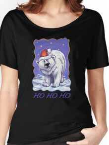 Polar Bear Christmas Card Women's Relaxed Fit T-Shirt