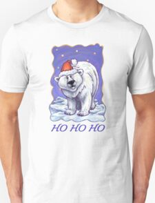 Polar Bear Christmas Card Unisex T-Shirt