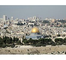 Looking Across the Kidron Valley to the Old City of Jerusalem Photographic Print