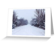 Fresh Snow on the Trail Greeting Card