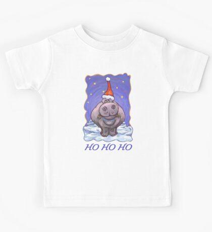 Hippopotamus Christmas Card Kids Tee