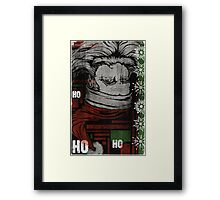 """HO, HO, WHOA"" (VERSION 2) Framed Print"