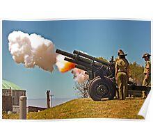 Fire!  - 19 Gun Salute Poster