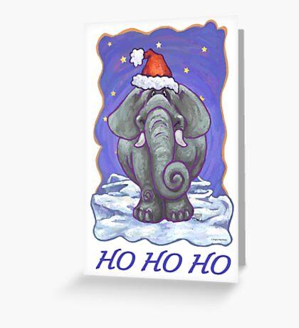 Elephant Christmas Card Greeting Card