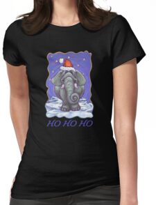 Elephant Christmas Card Womens Fitted T-Shirt