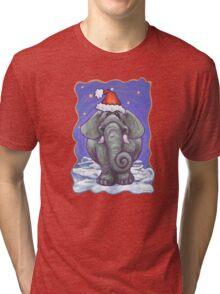 Elephant Christmas Tri-blend T-Shirt