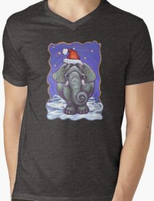 Elephant Christmas Mens V-Neck T-Shirt
