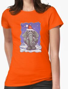 Elephant Christmas Womens Fitted T-Shirt