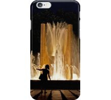 SHADOWS IN THE NIGHT PEOPLE LIGHT AND FOUNTAIN iPhone Case/Skin