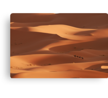 Caravan across the Sahara Desert Canvas Print
