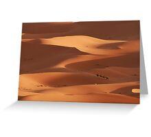 Caravan across the Sahara Desert Greeting Card