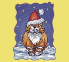 Ginger Cat Christmas Kids Tee