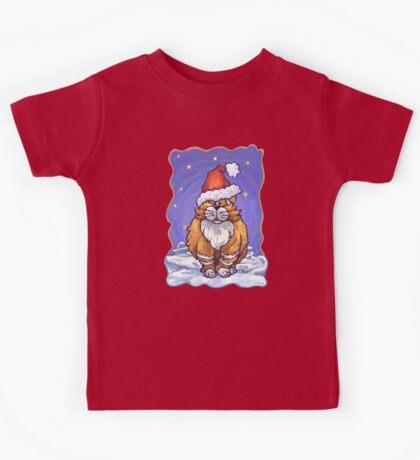 Ginger Cat Christmas Kids Tee