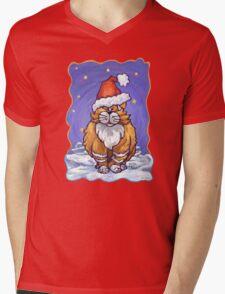 Ginger Cat Christmas Mens V-Neck T-Shirt