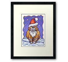 Ginger Cat Christmas Framed Print