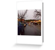 A wet Day in Maldon VIC Australia Greeting Card