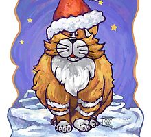 Ginger Cat Christmas Card by ImagineThatNYC