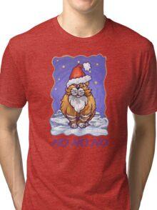 Ginger Cat Christmas Card Tri-blend T-Shirt