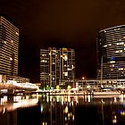 Melbourne Docklands at Night 6530 by Kayla Halleur