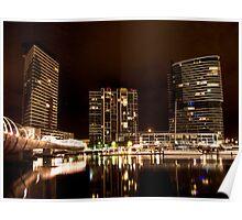 Melbourne Docklands at Night 6530 Poster