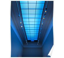Gallery in blue Poster