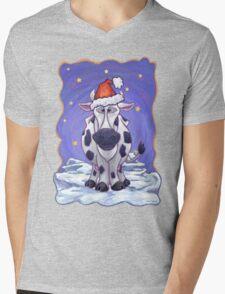 Cow Christmas Mens V-Neck T-Shirt