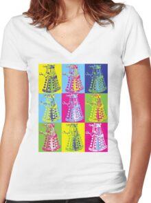 Pop Dartlek Women's Fitted V-Neck T-Shirt