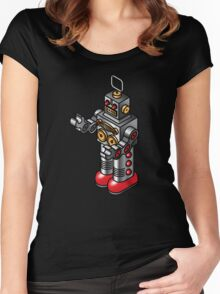 Tin toy robot Women's Fitted Scoop T-Shirt