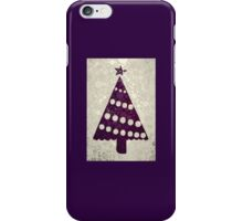 Aubergine Purple Abstract Christmas Tree iPhone Case/Skin