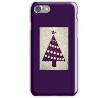 Aubergine Purple Abstract Christmas Tree iPhone Case/Skin