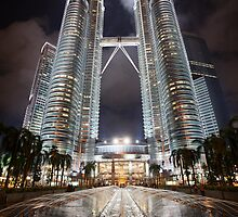 Petronas Towers by Night by Dan Paymar