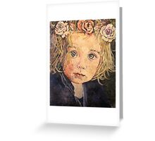 Flowers in her hair Greeting Card