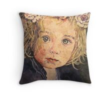 Flowers in her hair Throw Pillow