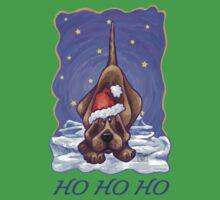 Hound Dog Christmas Card One Piece - Short Sleeve