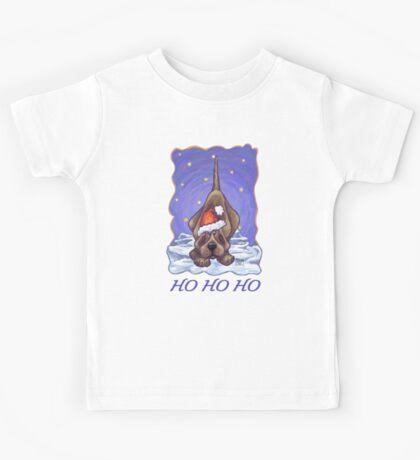 Hound Dog Christmas Card Kids Tee