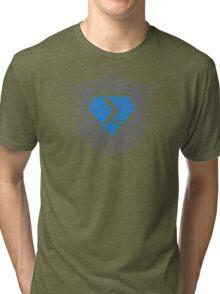 PowerShell Emblem Gray & Blue Tri-blend T-Shirt