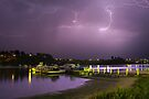 Lightning at Lakes Entrance by Darren Stones
