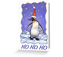 Penguin Christmas Card Greeting Card