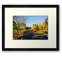 Sentiment of Perspective - Afternoon Countryside Road  Framed Print