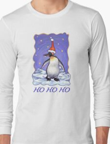 Penguin Christmas Card Long Sleeve T-Shirt