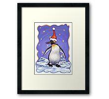 Penguin Christmas Framed Print