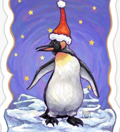 Penguin Christmas Sticker
